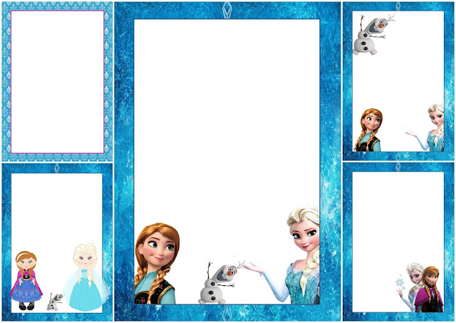 Frozen Free Printable Frames, Invitations or Cards Oh My Fiesta