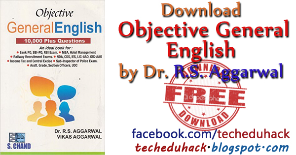 Objective English for Competitive exams by RS Aggarwal free Download