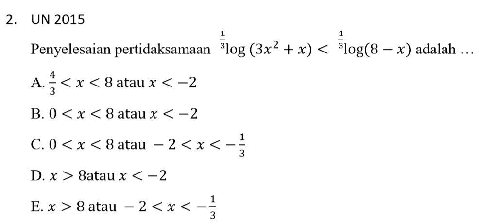 Logaritma adalah suatu operasi invers atau kebalikan dari perpangkatan. Penyelesaian Pertidaksamaan Logaritma Belajar Geogebra