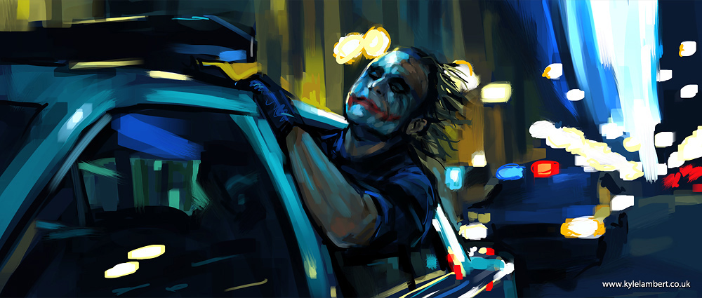 Joker In Cop Car Painting