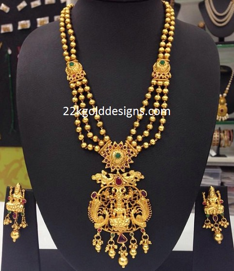 1 Gram Gold Lakshmi Necklace with Price