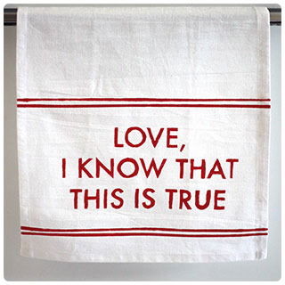Last-Minute DIY Gifts: Stencil tea towels with your gift-receivers favorite song lyrics!