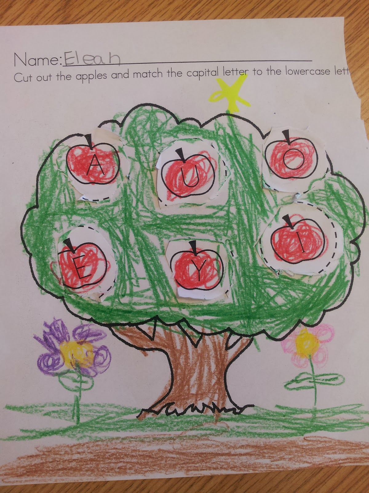 Colors And Kindergarten Apple Week