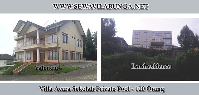 Villa kolam renang private pool untuk acara sekolah