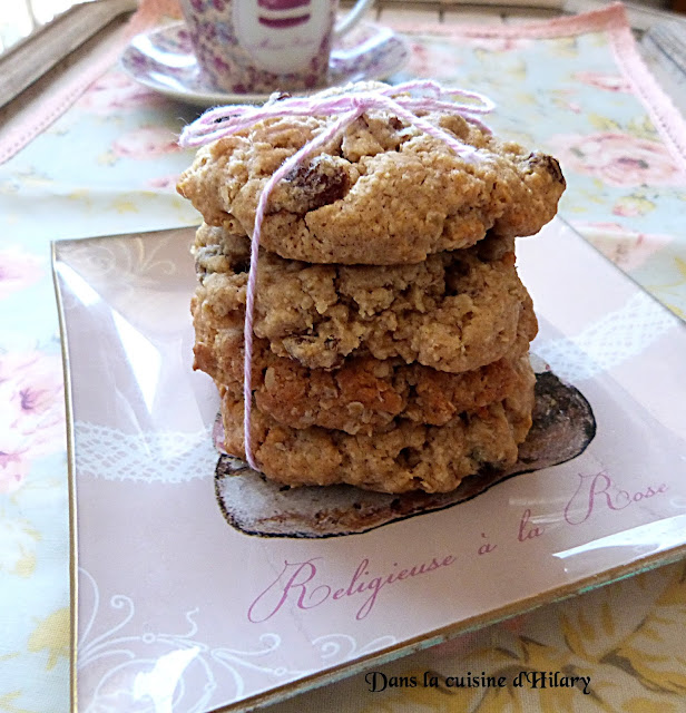 Oatmeal cookies aux raisins secs et noix de pécan