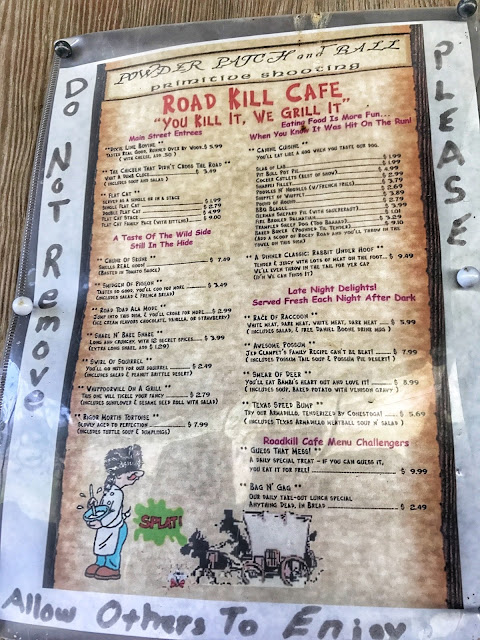 Road Kill Cafe Menu