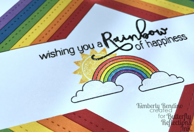 rainbow card | handmade card | butterfly reflections, ink. | sugar pea designs | kimpletekreativity.blogspot.com