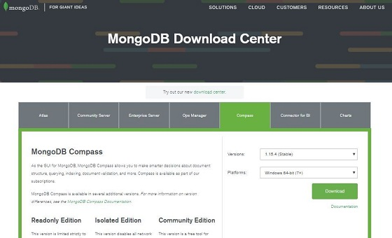 Install Compass GUI for MongoDB