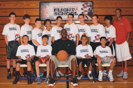 Michael Jordan Wearing Retro 11