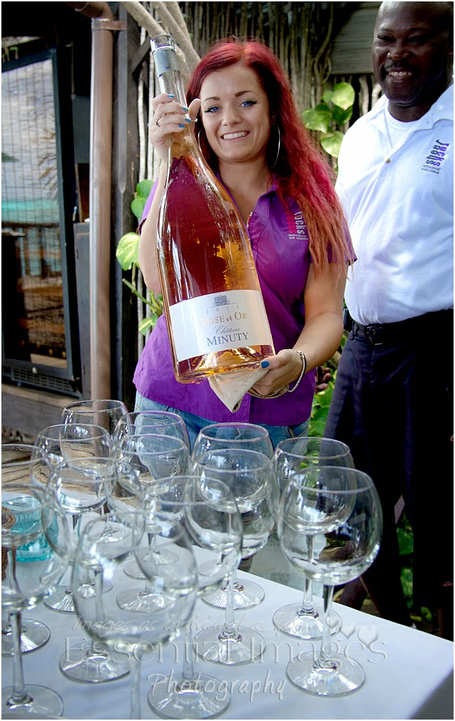 Large bottle of minuty rose wine