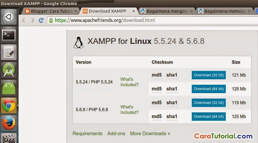 Cara Install XAMPP di Ubuntu (Lampp)