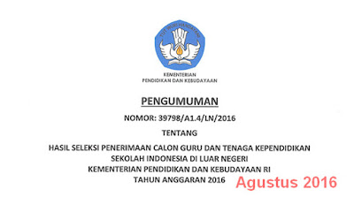 Seleksi Hasil uji kompetensi bahasa Asing SILN 2016