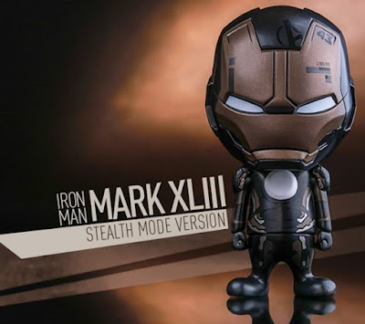 "Marvel's Avengers: Age of Ultron ""Stealth Mode"" Iron Man Mark VII Cosbaby Vinyl Figure by Hot Toys"