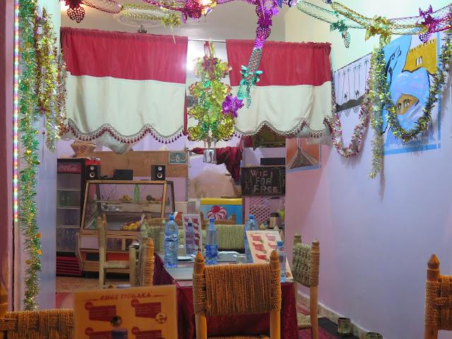 Restaurante en el interior del zoco de Marraquech