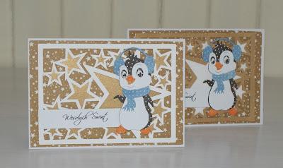 kartki z pingwinami