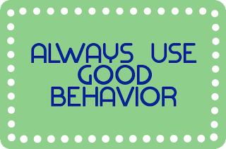 Good behavior is essential for personality development.
