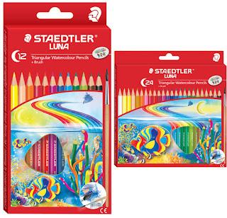 Staedtler Luna Triangular coloured dan watercoloured