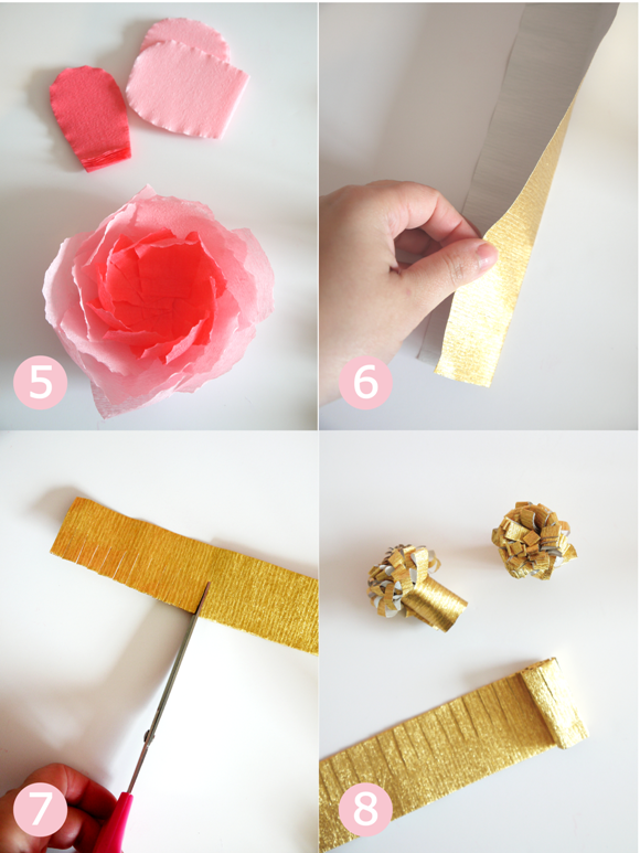 Diy crepe paper flowers bouquet party ideas party printables blog mothers day easy craft diy crepe paper flower bouquet birdsparty step mightylinksfo