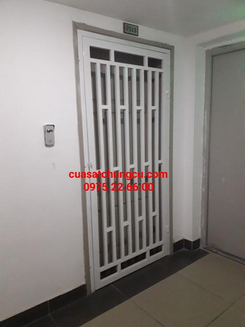 cửa sắt chung cư đẹp tại kim giang