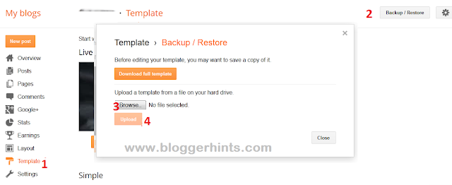 How To Install Blogger / Blogspot Template