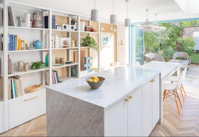 Rooms with chevron and herringbone floor ideas kitchen