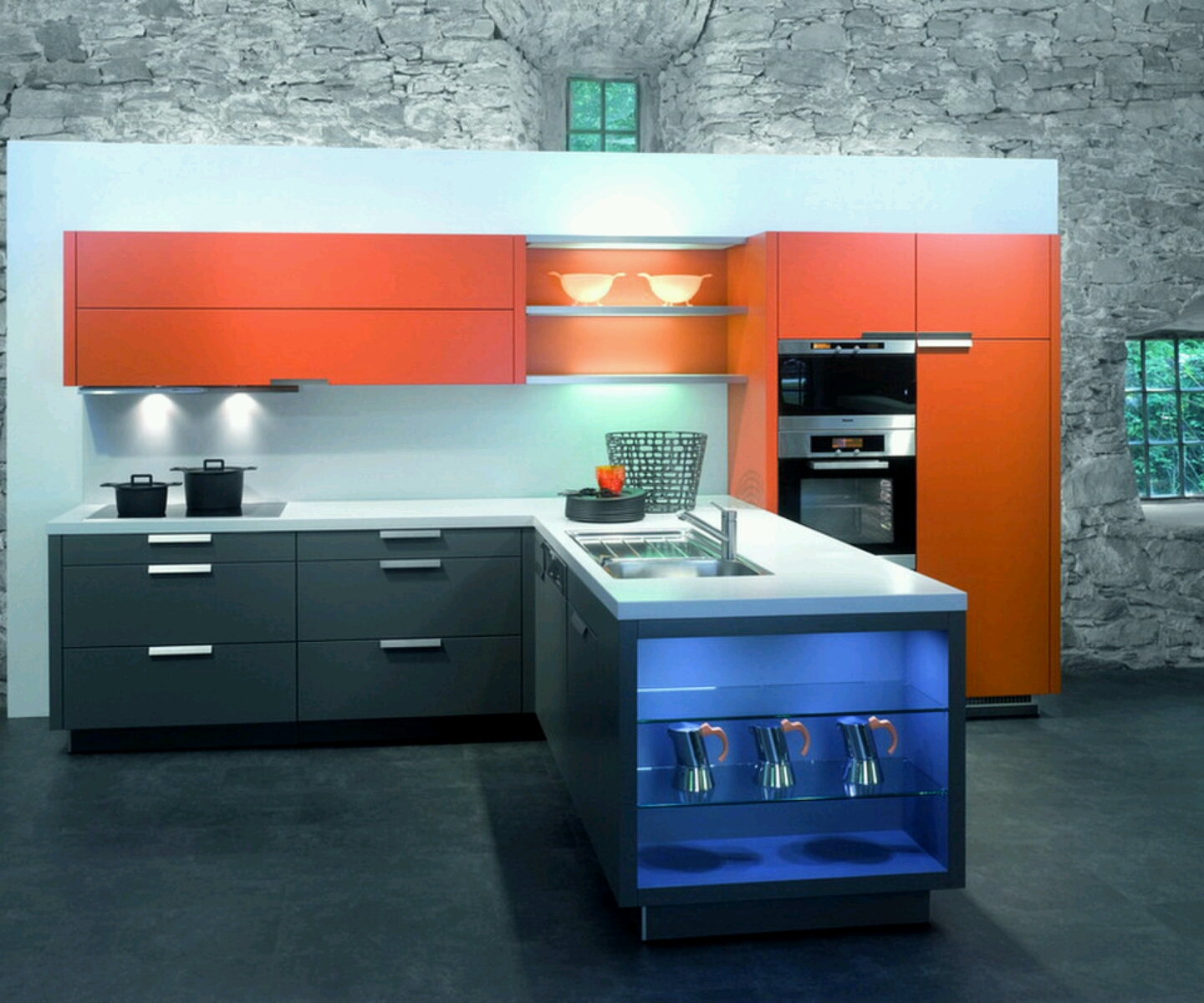 New home designs latest.: Modern homes ultra modern ... on Ultra Modern Luxury Modern Kitchen Designs  id=18646