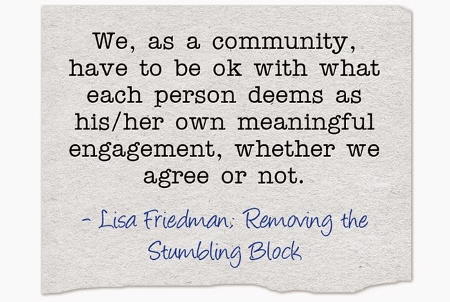 Meaningful Engagement; Removing the Stumbling Block
