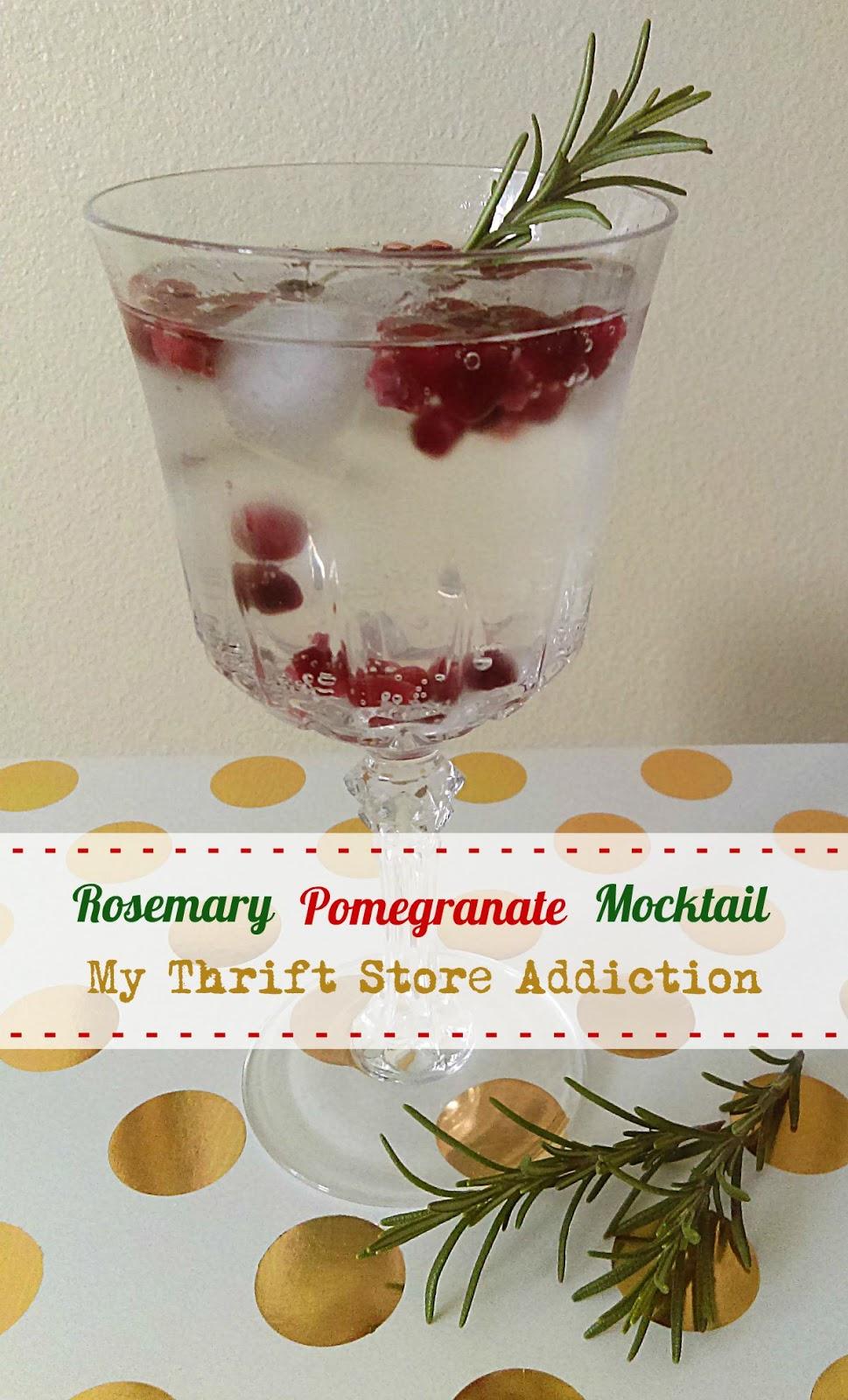refreshing rosemary pomegranate mocktail