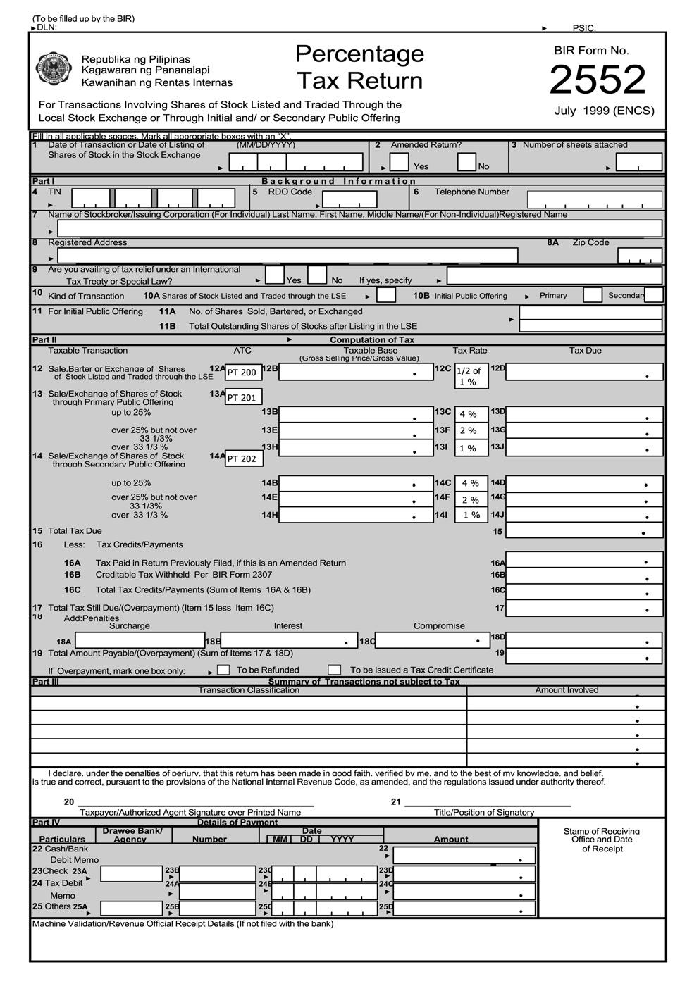 busapcom: BIR Form 2552 Download