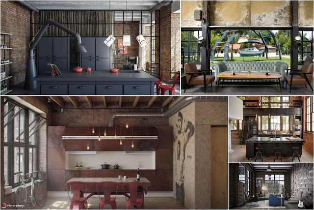 The Industrial Style Decor Is Bold And Distinctive