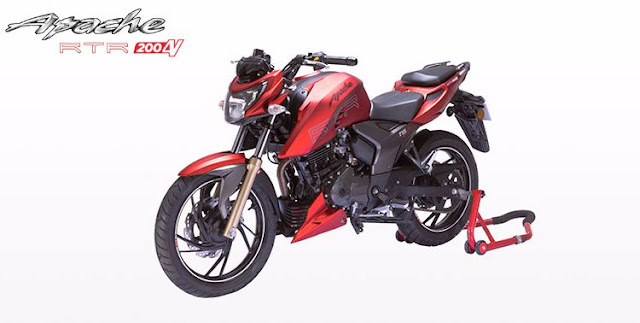 TVS Apache RTR 200 4V Naked bike