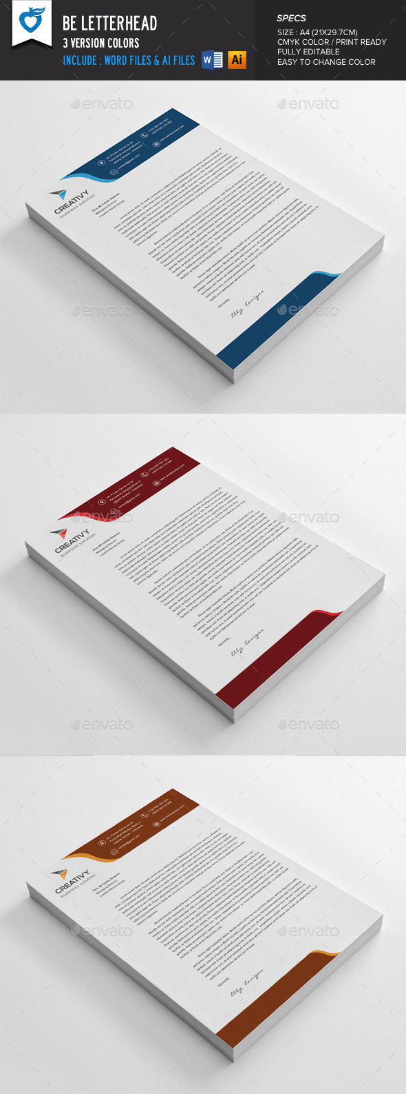 40 free premium letterhead templates in multiple formats be letterhead template spiritdancerdesigns Image collections