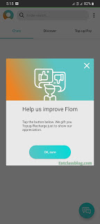 Get 50 Naira Airtime After Downloading Flom App  For Free