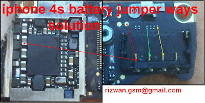 iphone 4S Battery Connector jumper Ways Solution     I Phone 4S Battery Connector Problem Jumper Ways Solution. If your Mobile phone Battery Connector is not working check this solution . You Can Solve your Mobile phone Problem Follow this Picture help. This is iphone 4s Battery Connector Solution Check this line use avo meter any line is short make this jumper use copier coil.