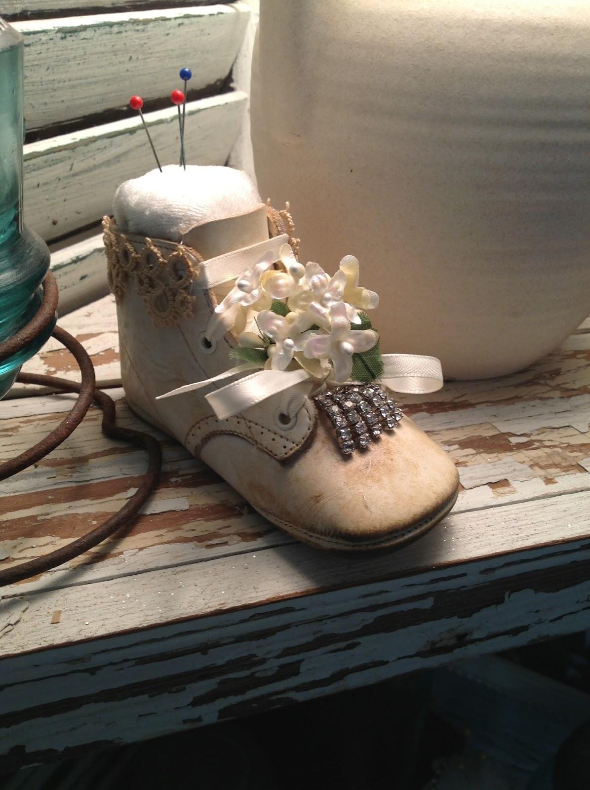 Karol Ann Repurposed Baby Shoes