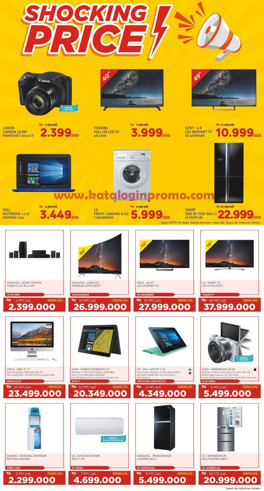 Promo Electronic Solution Terbaru 27 April – 3 Mei 2018