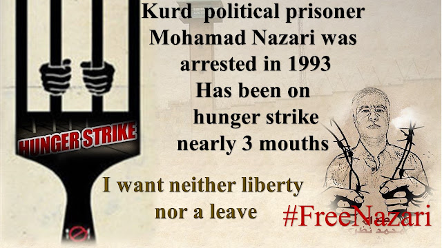 Mohammad Nazari Kurdish political prisoner on hunger strike