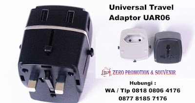 Travel Adapter 4 Port USB atau disebt juga Travel Adapter Universe USB, Souvenir cinderamata universal travel adapter, Souvenir Promosi Tour and Travel, Power Converter Adaptor, steker listrik souvenir UAR06