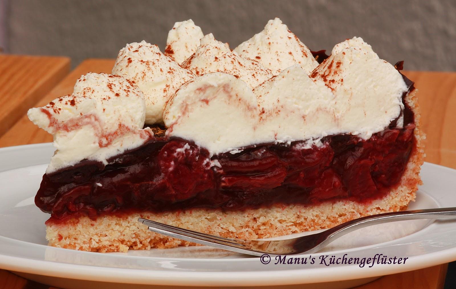Manus Kuchengefluster Rotwein Kirschkuchen