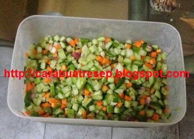 Foto Resep Acar Mentimun Mentah Wortel Bawang Merah Cabe Rawit
