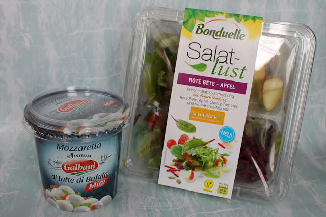 Bonduelle Salatlust Salatschale 'Rote Bete-Apfel' & Galbani Mozzarella Minis