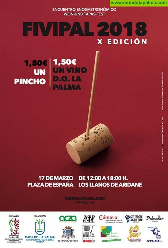 La X Edición de la Feria Insular del Vino de La Palma 'Fivipal 2018' ya tiene cartel