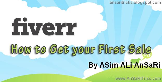 How to Make First Fiverr Sale