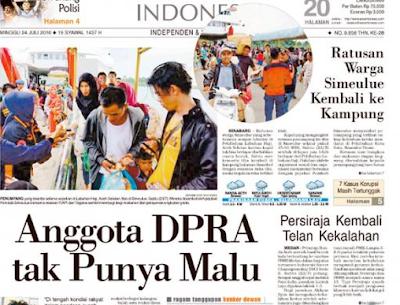 Daftar Nama-nama Anggota DPRA Aceh Yang Kunker Ke 4 Benua Dunia