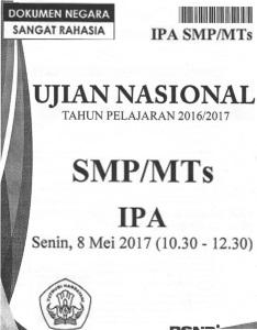 Soal Un Smp 2016/2017 : 2016/2017, Jawaban, No.1-10, Soalpg.com