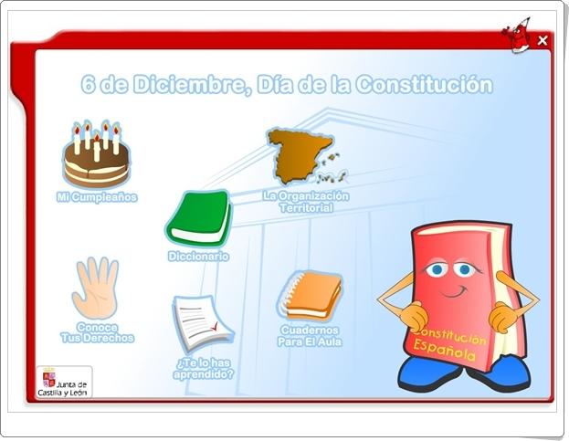 """""""6 de Diciembre, Día de la Constitución Española"""" (Actividades interactivas)"""