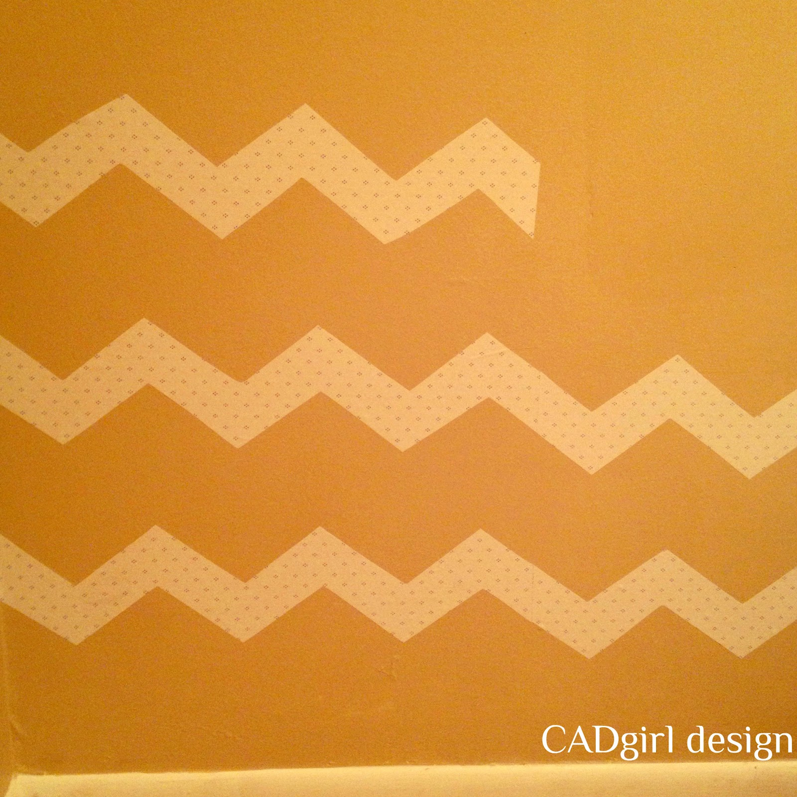 CADgirl design: Chevron Sparkled Wall