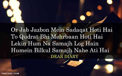 dear diary urdu poetry, love quotes, thoughts and silent words 15
