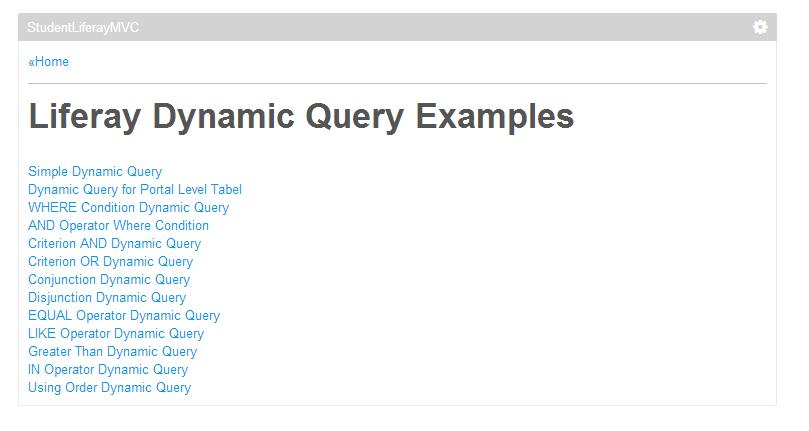 Liferay Dynamic Query API ~ Liferay Savvy