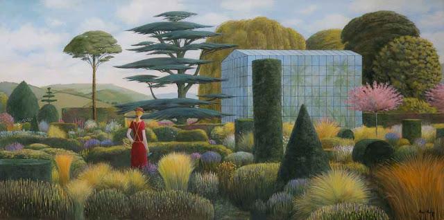 """Le Jardin Moderne"" by Alan Parry - 2018 | imagenes de obras de arte bellas bonitas, pinturas, cuadros, art pictures, cool stuff"